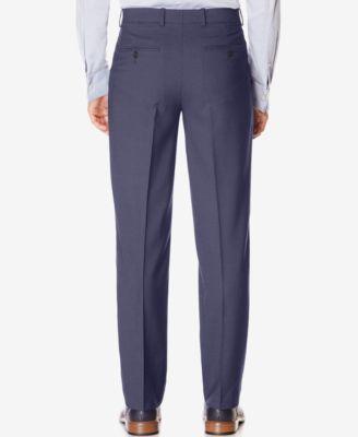 Perry Ellis Mens Classic-Fit Non-Iron Performance Nailhead Dress Pants