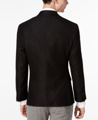 Kenneth Cole Reaction Mens Slim-Fit Soft Black Sport Coat