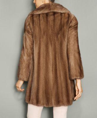 The Fur Vault Wing-Collar Mink Fur Coat