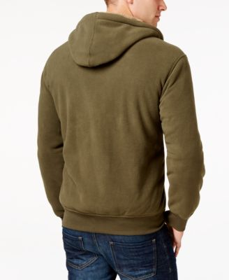Weatherproof Vintage Mens Big and Tall Faux Sherpa-Lined Hoodie; Classic Fit