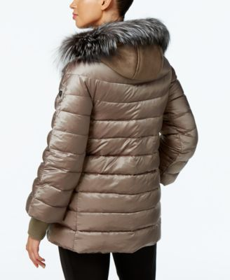 1 Madison Expedition Fox-Fur-Trim 2-in-1 Puffer Coat