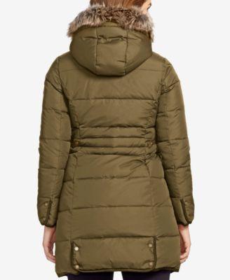 Lauren Ralph Lauren Plus Size Faux-Fur-Trim Down Puffer Coat