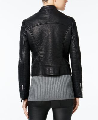 Wildflower Faux-Leather Moto Jacket