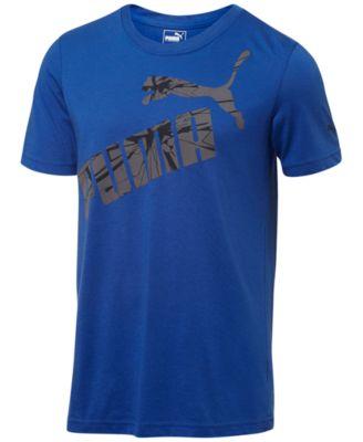 Puma Mens Fastbreak Heathered Cotton T-Shirt