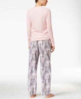 Alfani Printed Flannel Pajama Pants