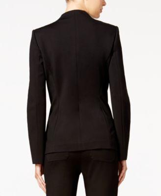 Calvin Klein Zip-Pocket Open-Front Bla..