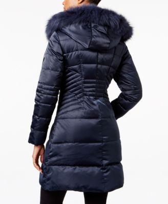 1 Madison Expedition Fox-Fur-Trim Puffer Coat