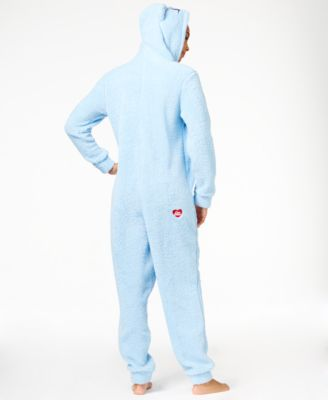 Briefly Stated Fuzzy Care Bear Hooded Jumpsuit