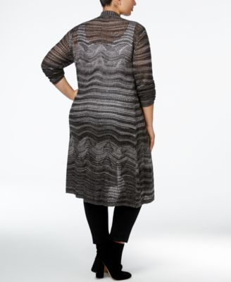 Belldini Plus Size Marled Pointelle Du..