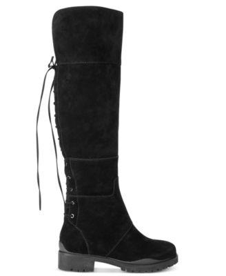 Nine West Mavira Back Lace-Up Over-The-Knee Boots