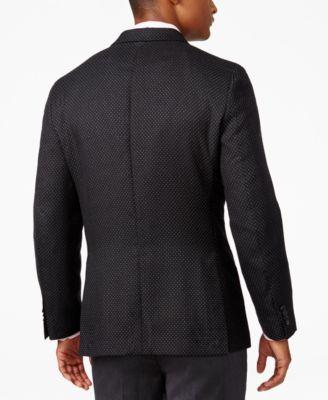Tommy Hilfiger Mens Classic-Fit Dot-Pattern Sport Coat