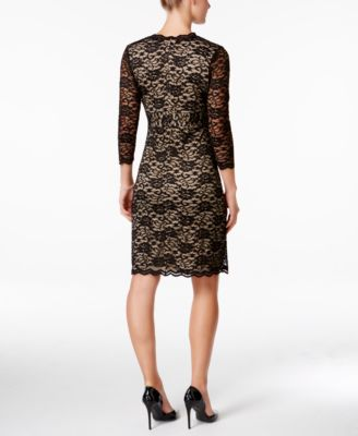 Charter Club Surplice Lace Sheath Dress
