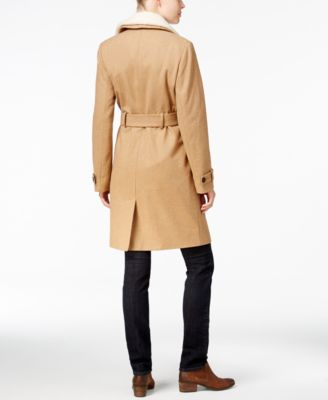 Tommy Hilfiger Kate Faux-Sherpa Trench Coat