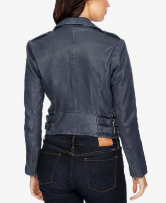 Lucky Brand Zippered Leather Jacket