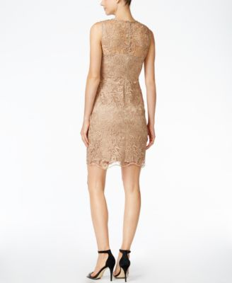 Calvin Klein Petite Lace Sheath Dress