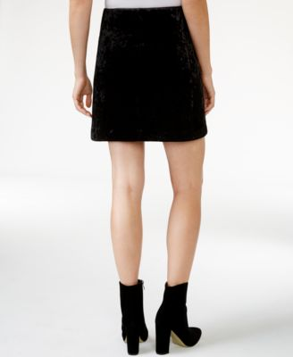RACHEL Rachel Roy Velvet A-Line Skirt