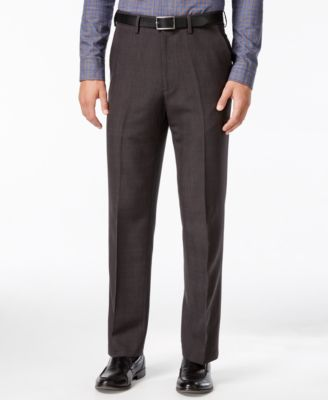 Haggar eCLo Windowpane Straight Fit Dress Pants