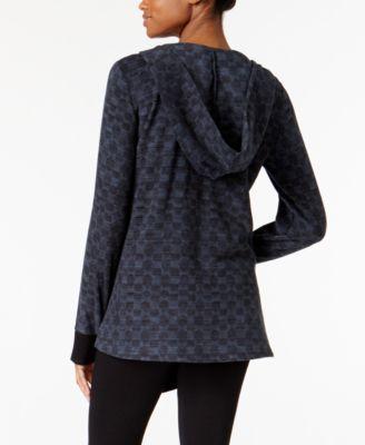 DKNY Hooded Cozy Fleece Wrap