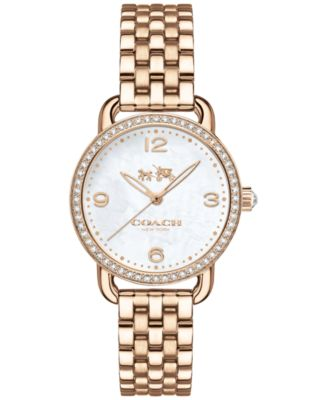 COACH Women's Delancey Gold-Tone Stainless Steel Bracelet Watch 28mm 14502697