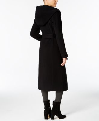 MICHAEL Michael Kors Hooded Wool-Cashmere-Blend Maxi Trench Coat