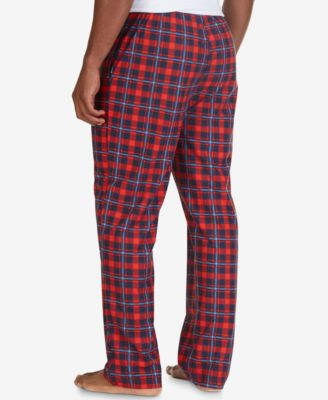 Nautica Mens Plaid Fleece Pajama Pants