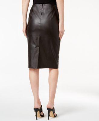 Alfani PRIMA Faux-Leather Pencil Skirt