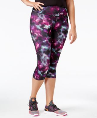 Ideology Plus Size Printed Cropped Leggings, Only at Macy's