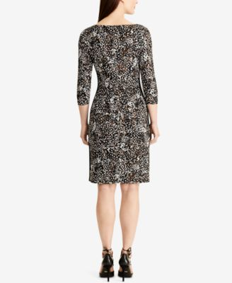 Lauren Ralph Lauren Geometric-Print Jersey Sheath Dress