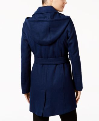 MICHAEL Michael Kors Petite Wool-Blend Hooded Walker Coat