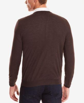 BOSS Mens V-Neck Wool Sweater