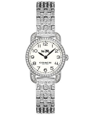 COACH Women's Delancey Crystal Stainless Steel Bracelet Watch 23mm 14502655