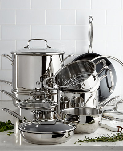 Cuisinart Chef S Classic 14 Pc Stainless Steel Cookware