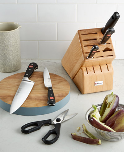 Wusthof classic 7 piece cutlery set cutlery knives for Wusthof kitchen essentials set 7 piece