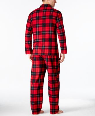 Club Room Mens Flannel Pajama Set