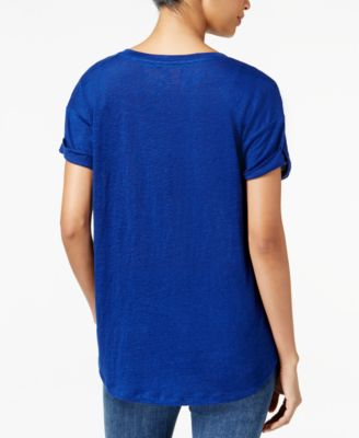 Tommy Hilfiger Linen Sequined T-Shirt