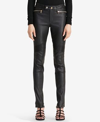 Lauren Ralph Lauren Leather Moto Pants
