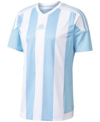 Adidas Originals Adidas Men S Climacool Striped Soccer Jersey In Blue White 6c86f3e6c