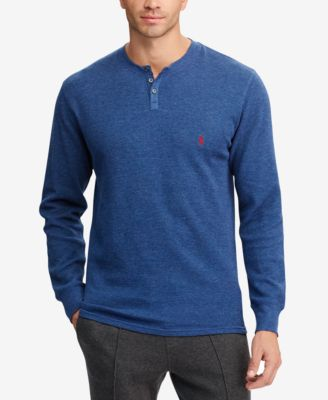 a01ccec7be4 Polo Ralph Lauren Men  039 S Waffle-Knit Henley Pajama Shirt In Shale