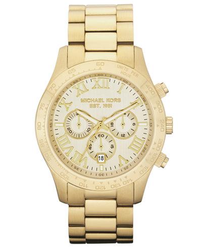Michael Kors Men S Chronograph Layton Gold Tone Stainless