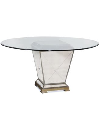 Marais Table 60 Mirrored Dining Table Furniture Macy 39 S