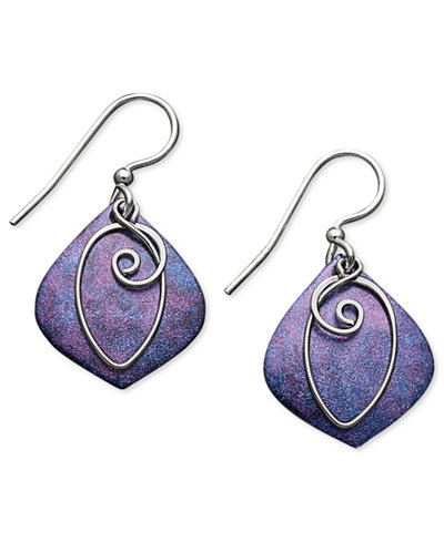 Jody coyote patina bronze earrings purple drop earrings for Macy s jewelry clearance