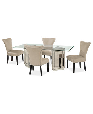 Sophia Dining Room Furniture 5 Piece Set 76 Table And
