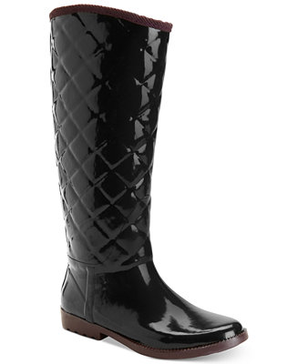 Kids Tall Black Rain Boot For Girls