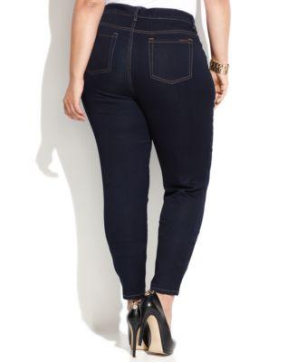 MICHAEL Michael Kors Plus Size Skinny Jeans Dark Wash