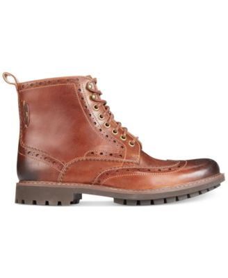 Clarks Mens Montacute Wing-Tip Boots