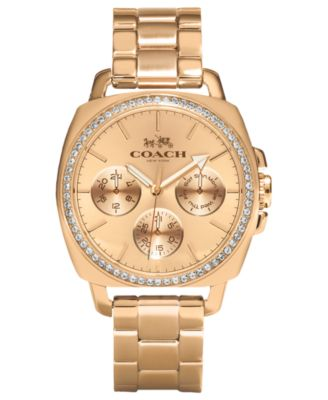 COACH WOMEN'S ROSE GOLD-PLATED BRACELET WATCH 40MM 14502081
