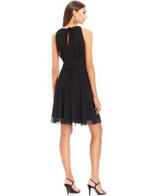 Jessica Howard Keyhole Embellished A-Line Dress
