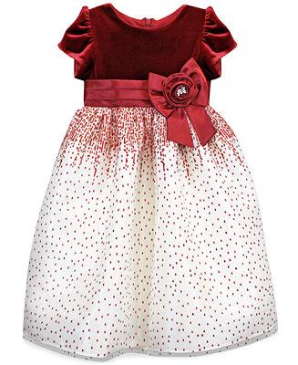Jayne Copeland Kids Dress Little Girl Velvet Holiday