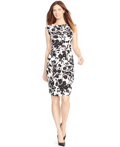 American Living Floral Print Sheath Dress Dresses