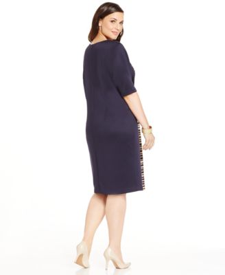 Connected Plus Size Textured-Panel Shi..